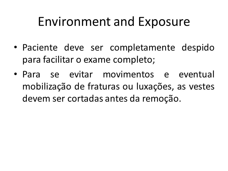 Environment and Exposure