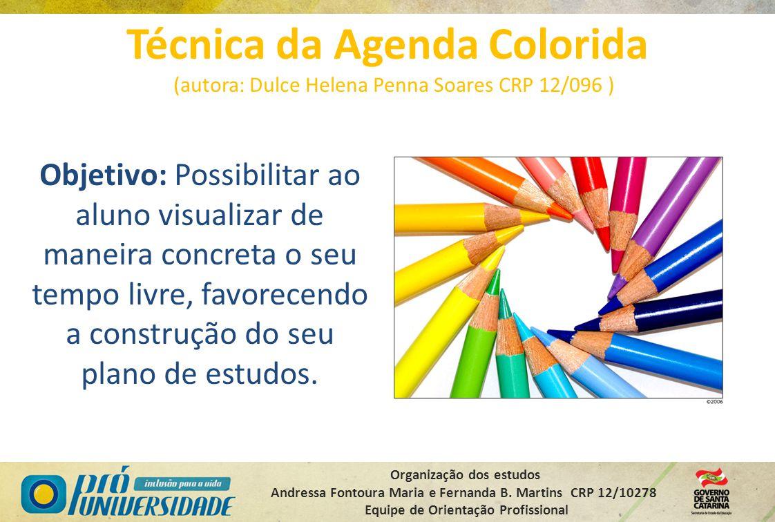 Técnica da Agenda Colorida