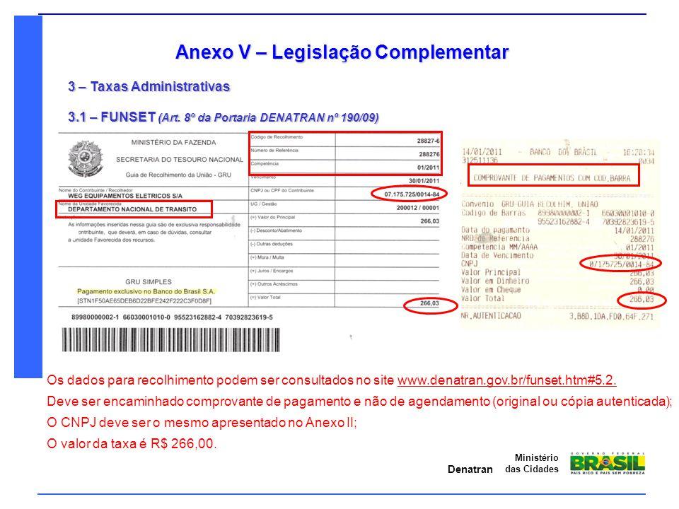 Anexo V – Legislação Complementar