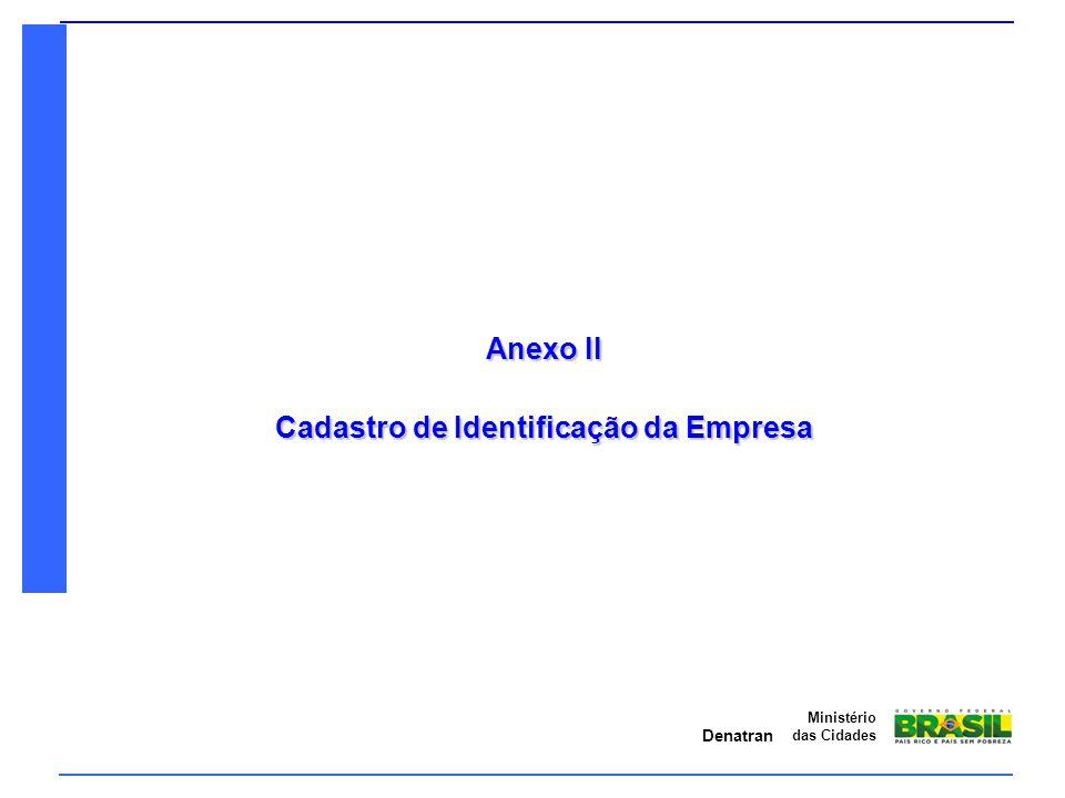 Cadastro de Identificação da Empresa