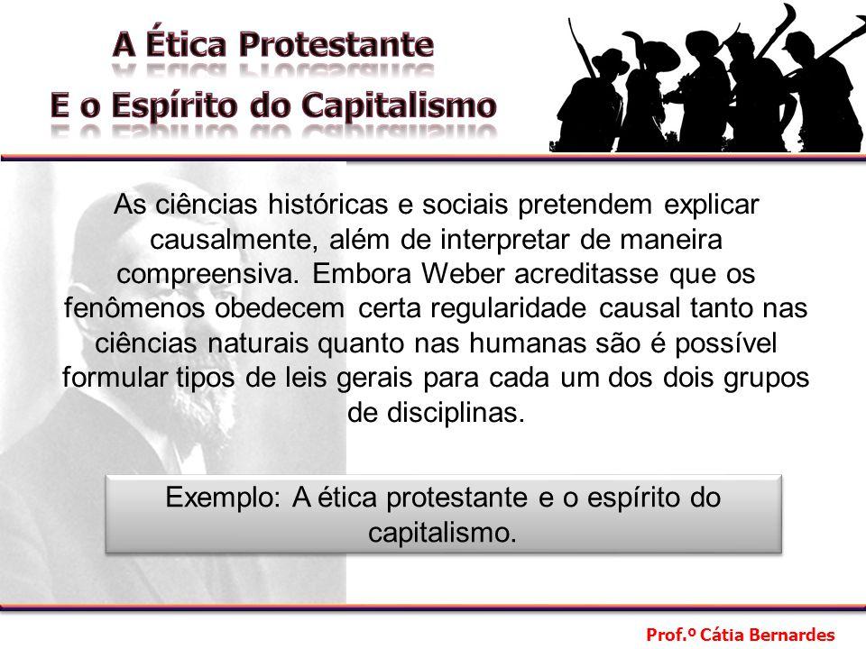 Exemplo: A ética protestante e o espírito do capitalismo.
