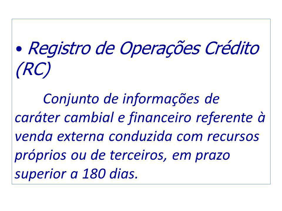 Registro de Operações Crédito (RC)