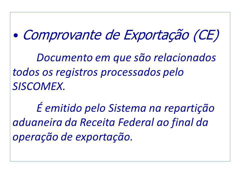 Comprovante de Exportação (CE)