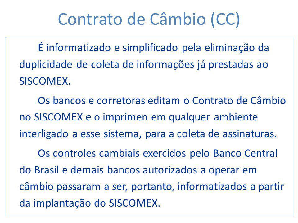 Contrato de Câmbio (CC)