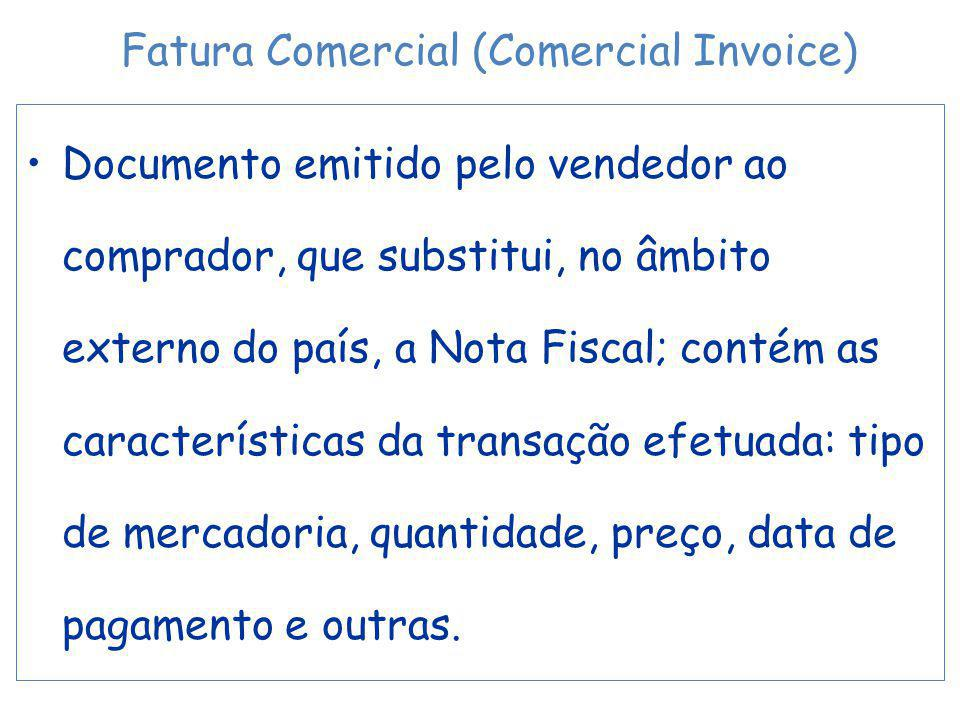 Fatura Comercial (Comercial Invoice)