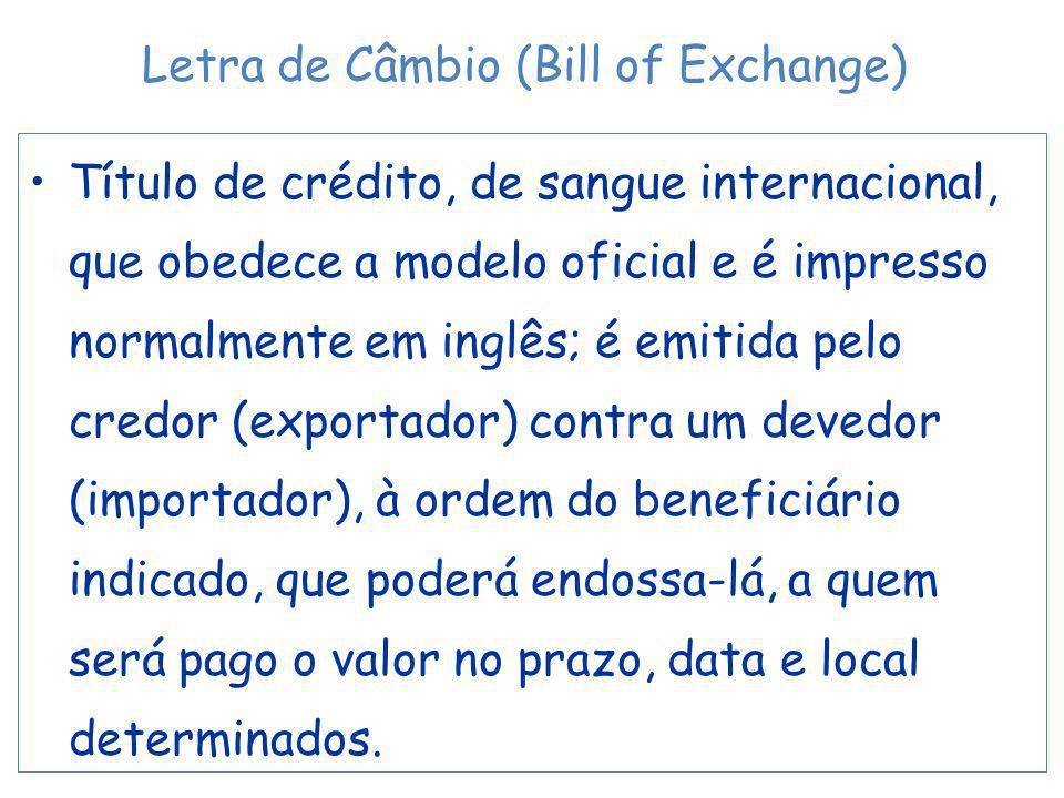 Letra de Câmbio (Bill of Exchange)