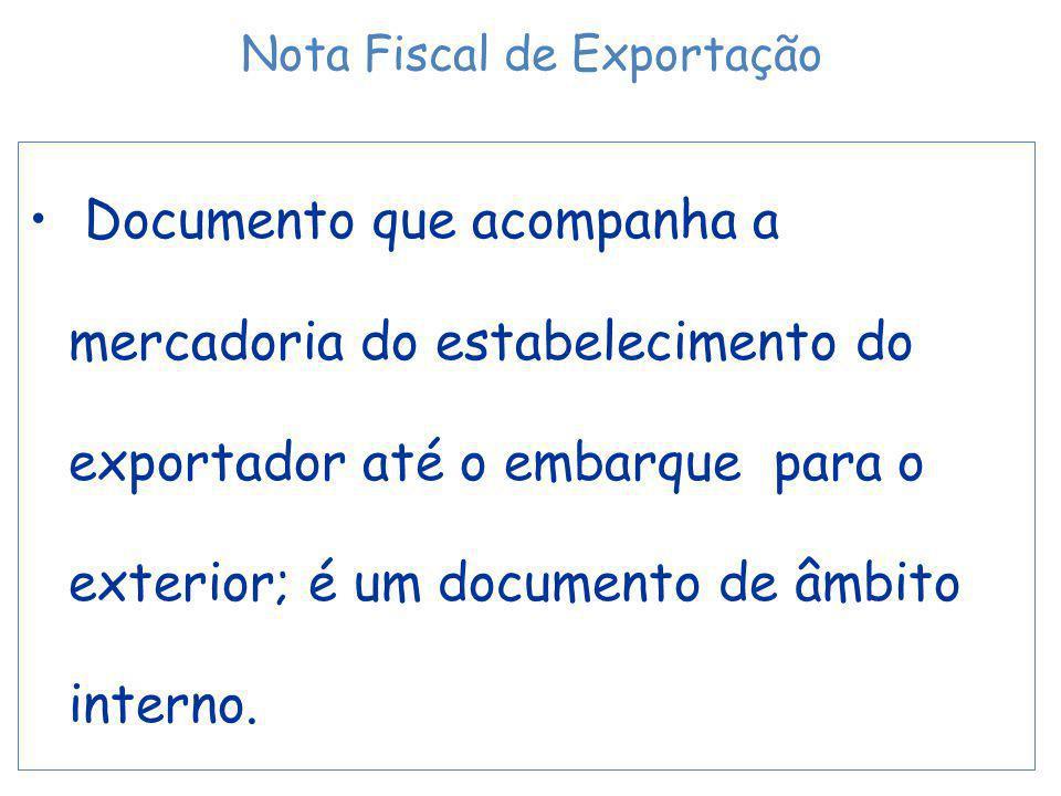 Nota Fiscal de Exportação