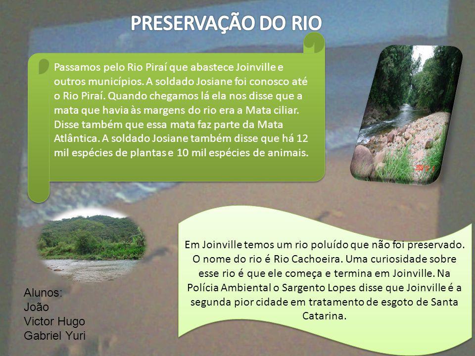 PRESERVAÇÃO DO RIO