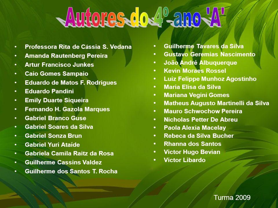 Autores do 4º ano A Turma 2009 Professora Rita de Cássia S. Vedana