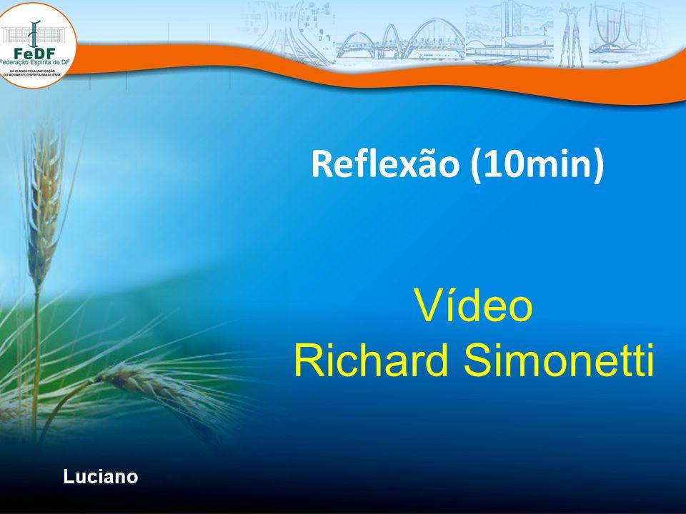 Reflexão (10min) Vídeo Richard Simonetti Luciano