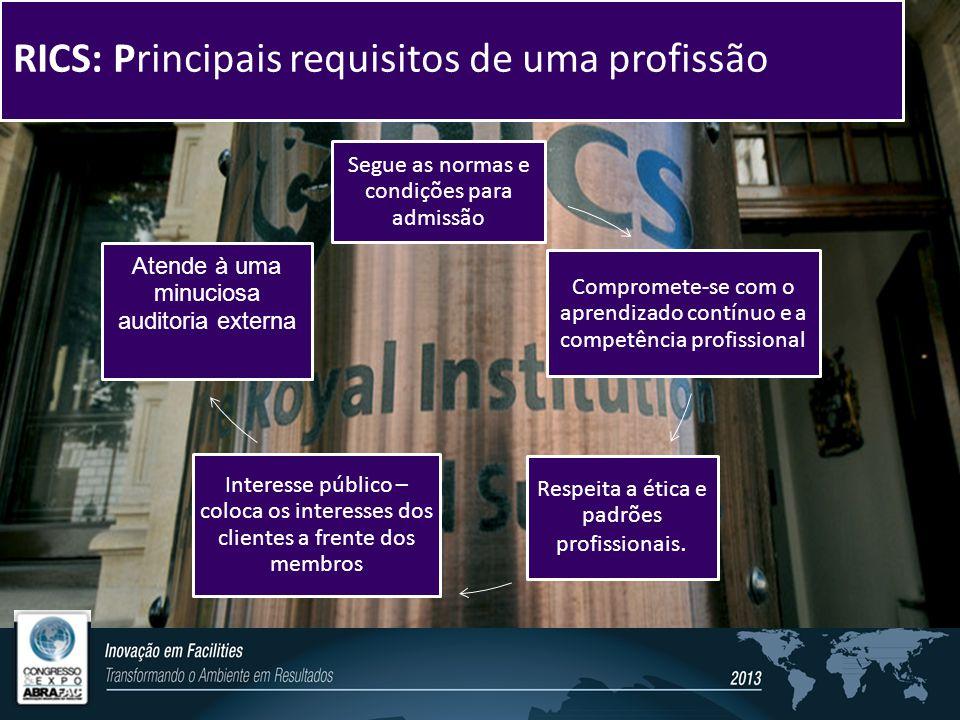 RICS: Principais requisitos de uma profissão