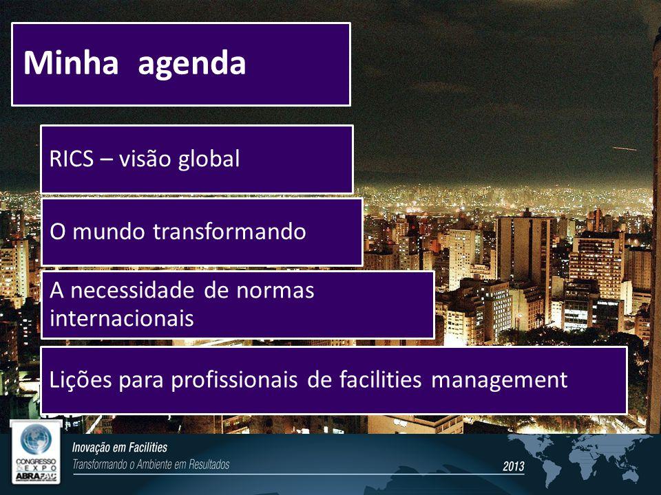 Minha agenda RICS – visão global O mundo transformando