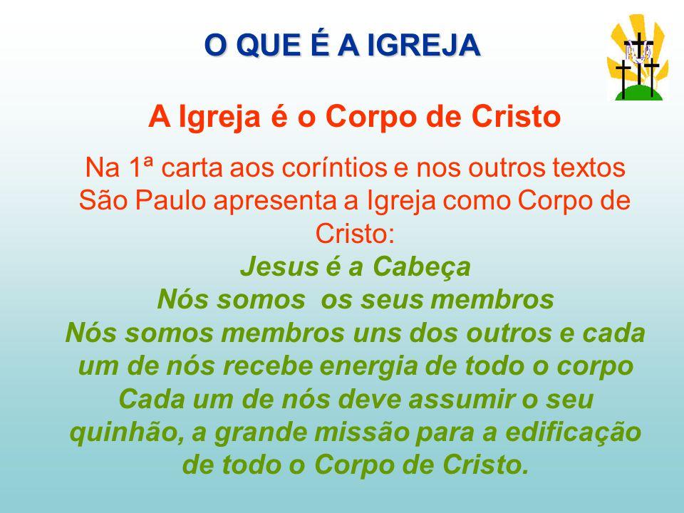 A Igreja é o Corpo de Cristo Nós somos os seus membros