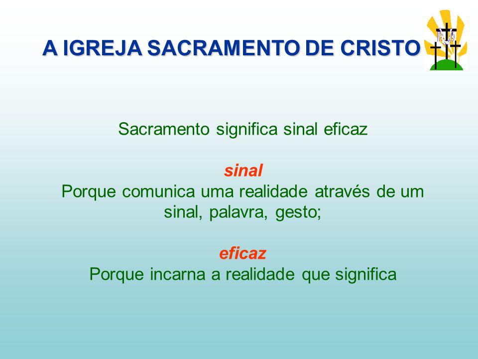 A IGREJA SACRAMENTO DE CRISTO