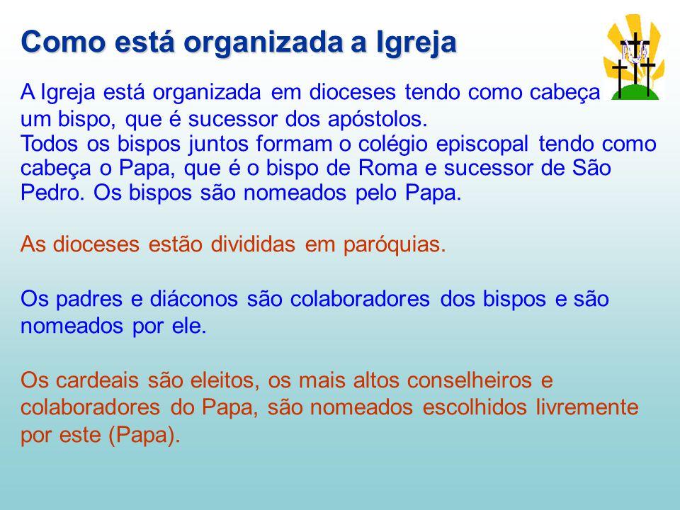 Como está organizada a Igreja