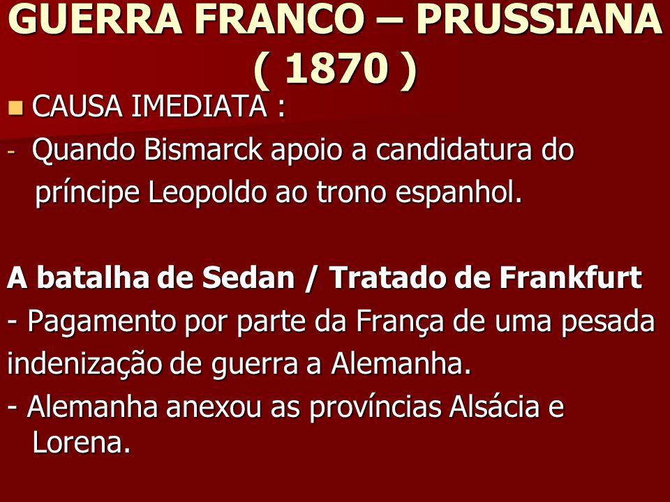 GUERRA FRANCO – PRUSSIANA ( 1870 )