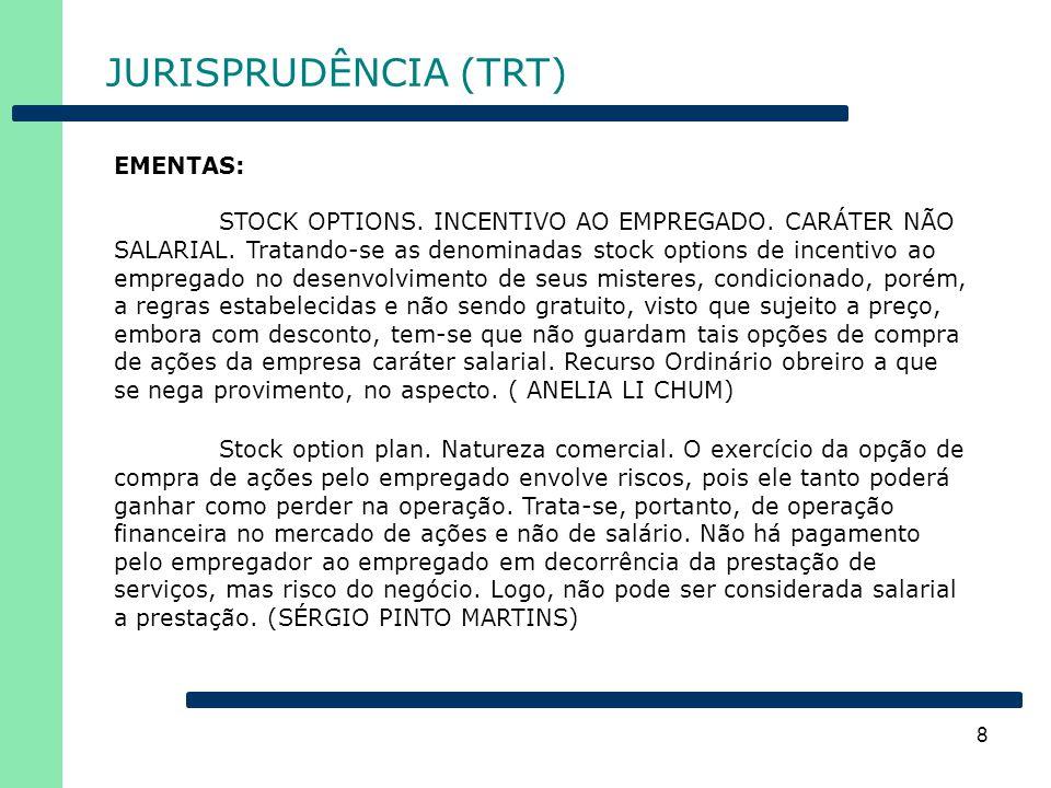 JURISPRUDÊNCIA (TRT) EMENTAS: