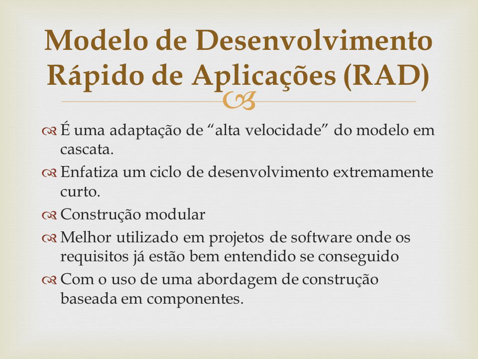 Modelo de Desenvolvimento Rápido de Aplicações (RAD)