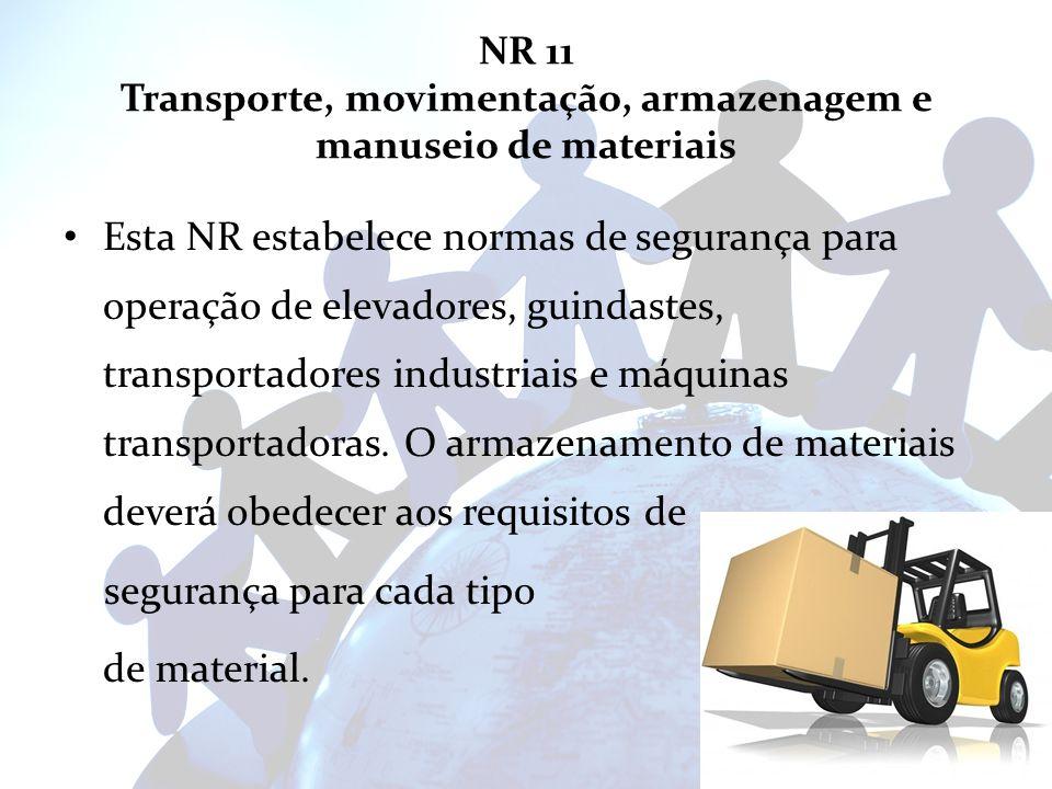 NR 11 Transporte, movimentação, armazenagem e manuseio de materiais