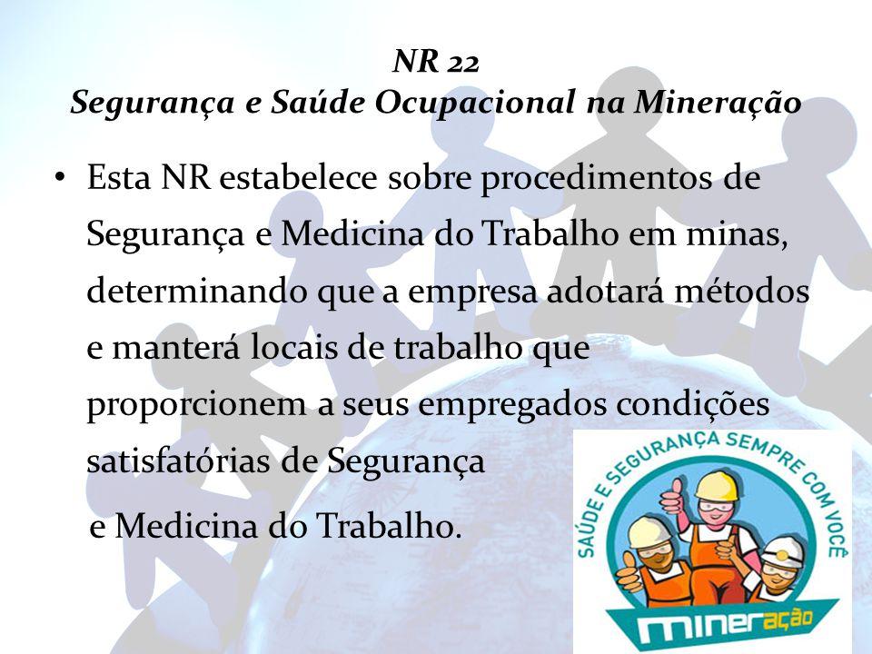 NR 22 Segurança e Saúde Ocupacional na Mineração