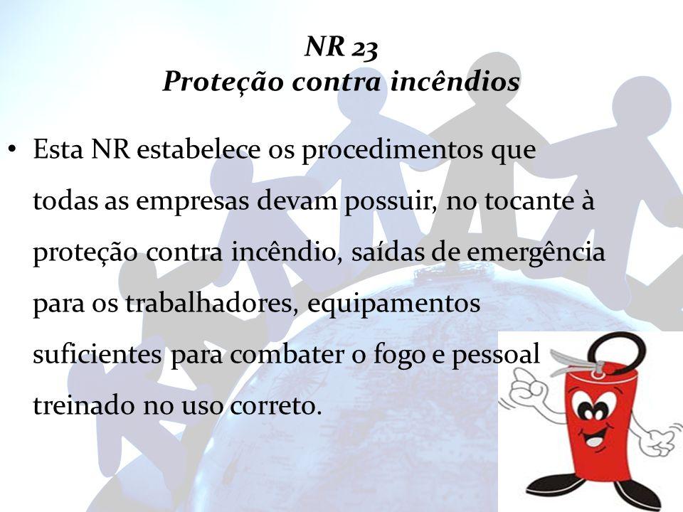 NR 23 Proteção contra incêndios