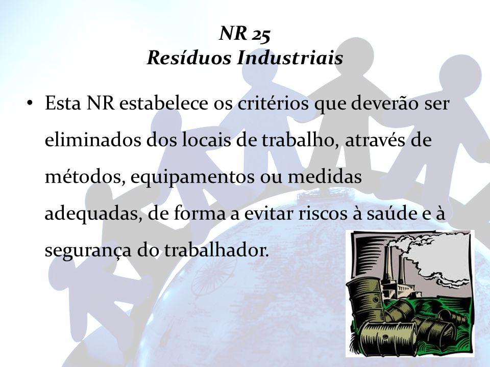 NR 25 Resíduos Industriais
