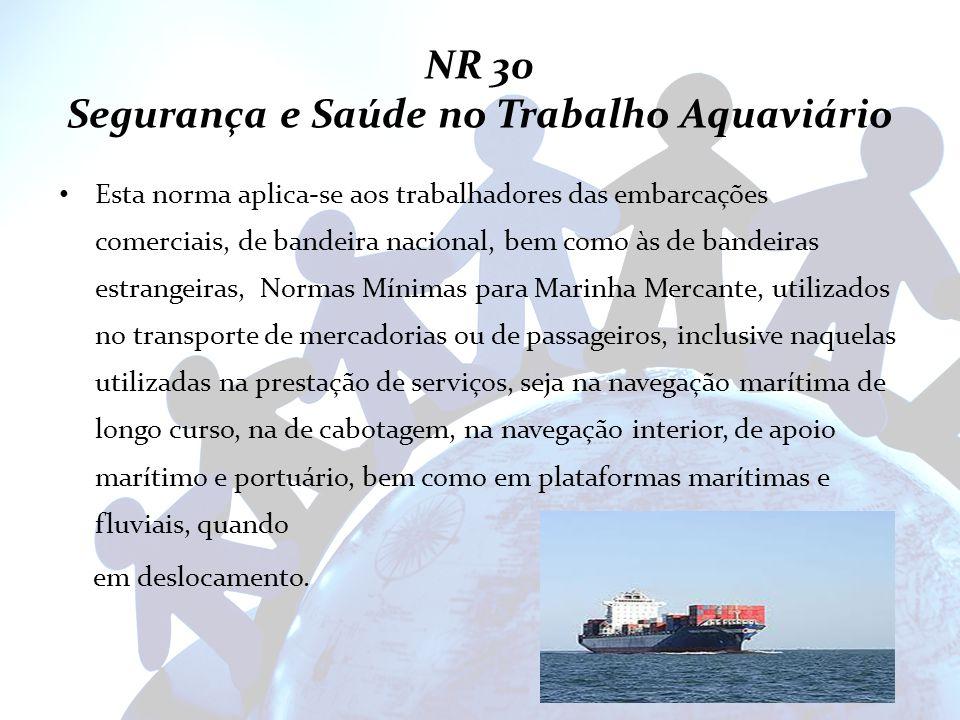 NR 30 Segurança e Saúde no Trabalho Aquaviário