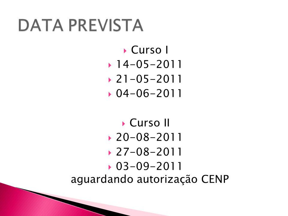 03-09-2011 aguardando autorização CENP