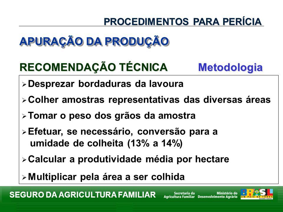 RECOMENDAÇÃO TÉCNICA Metodologia