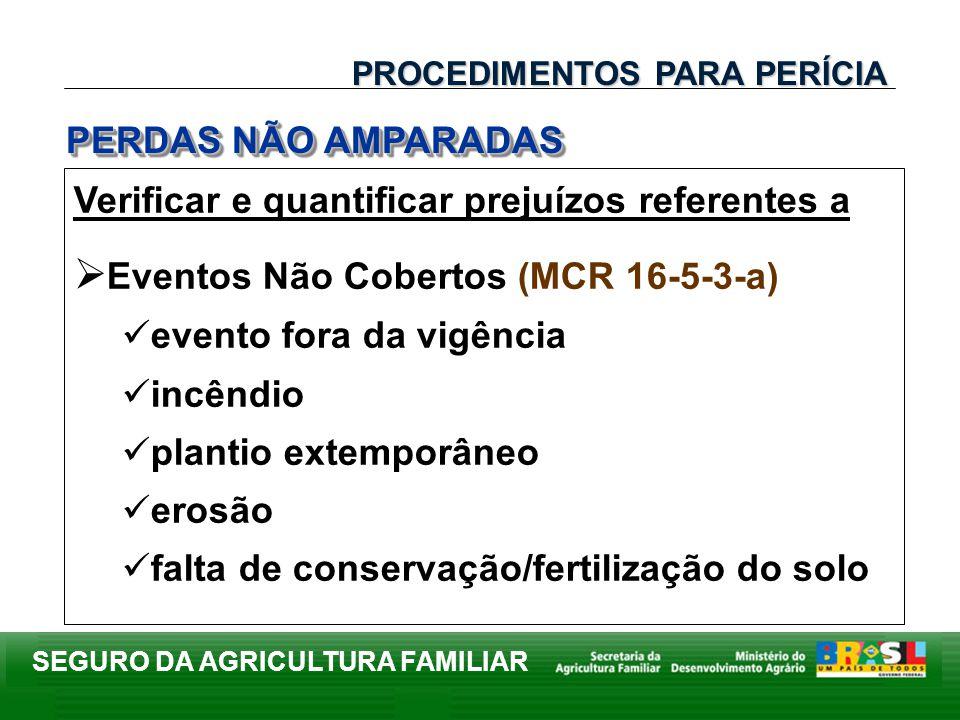 Eventos Não Cobertos (MCR 16-5-3-a)