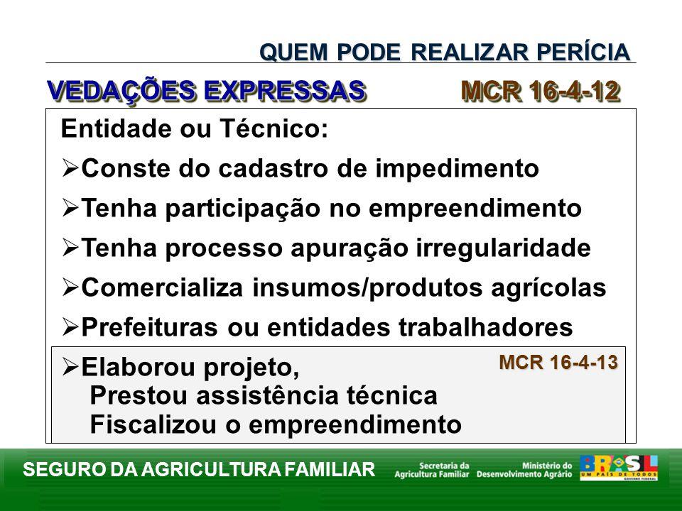 VEDAÇÕES EXPRESSAS MCR 16-4-12