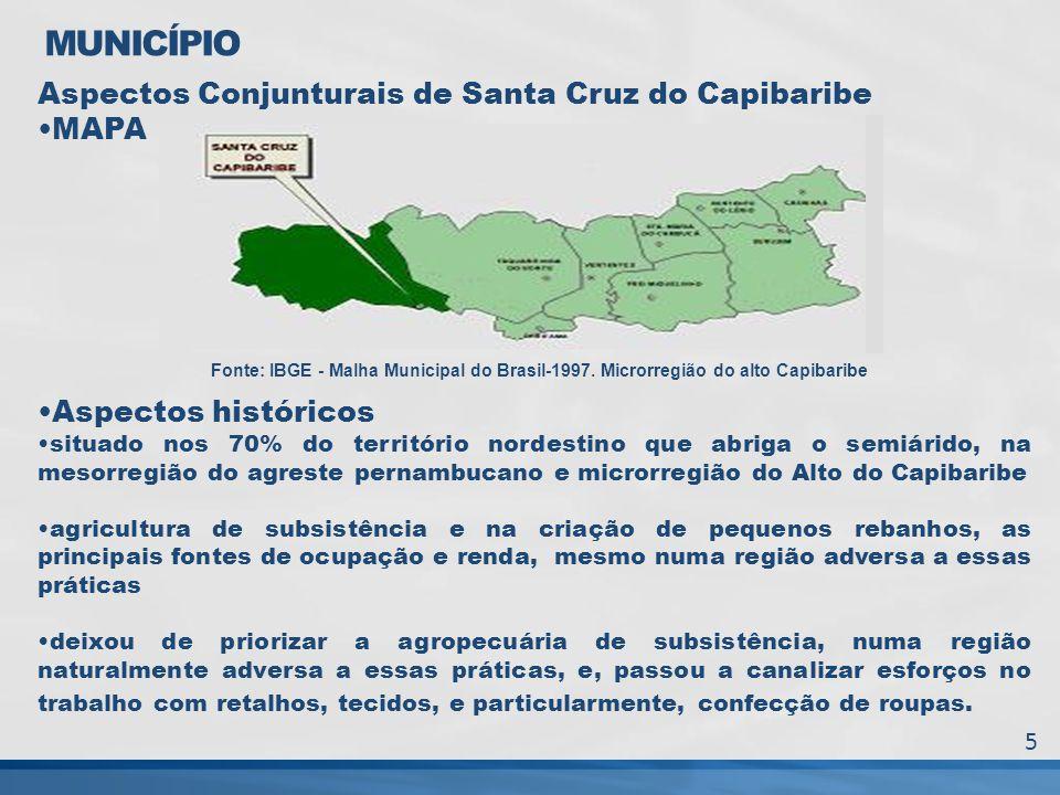 MUNICÍPIO Aspectos Conjunturais de Santa Cruz do Capibaribe MAPA