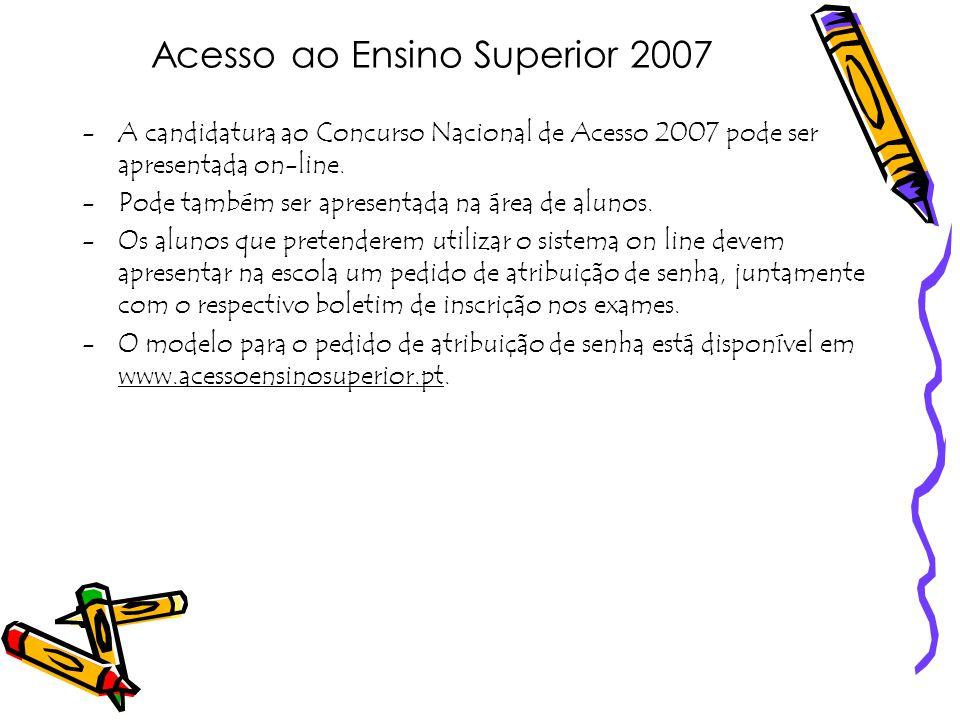 Acesso ao Ensino Superior 2007