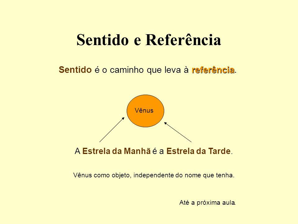 Sentido e Referência Sentido é o caminho que leva à referência.