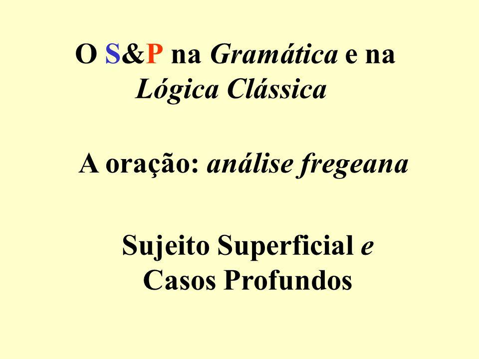 O S&P na Gramática e na Lógica Clássica