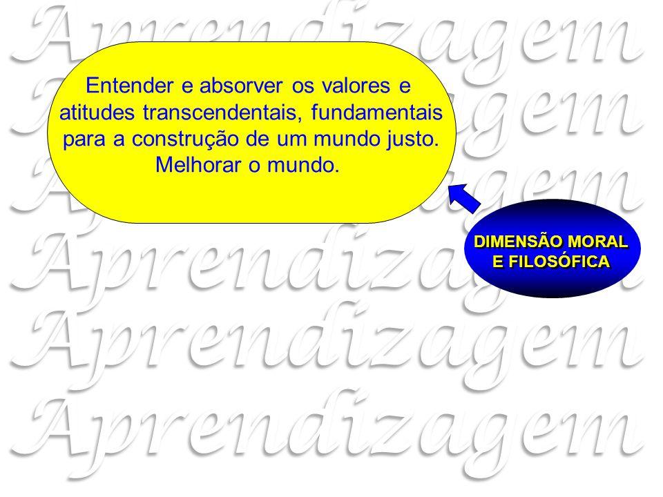 DIMENSÃO MORAL E FILOSÓFICA