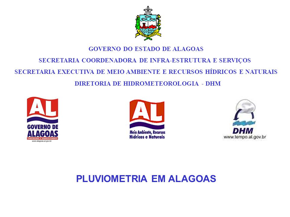 PLUVIOMETRIA EM ALAGOAS