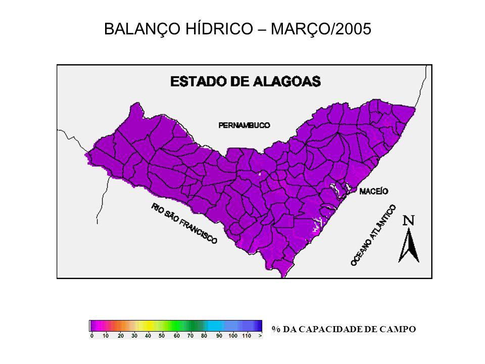 BALANÇO HÍDRICO – MARÇO/2005