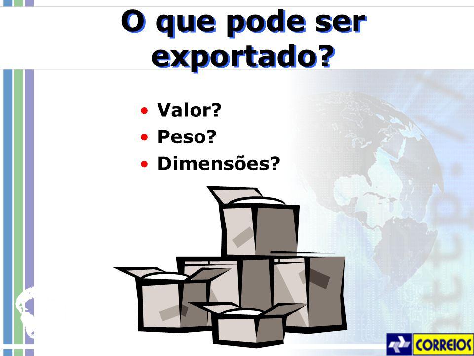 O que pode ser exportado