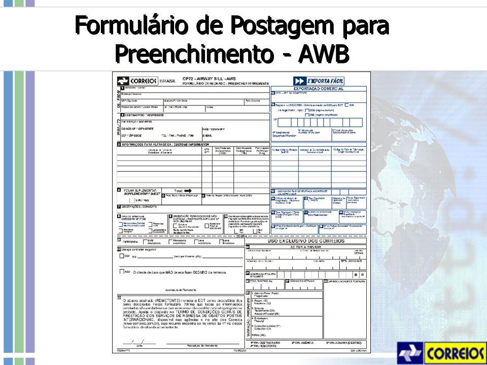 Formulário de Postagem para Preenchimento - AWB
