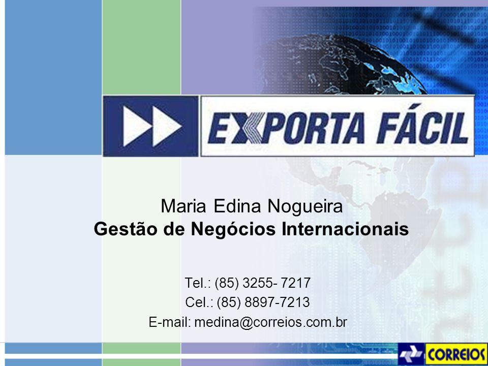 Maria Edina Nogueira Gestão de Negócios Internacionais