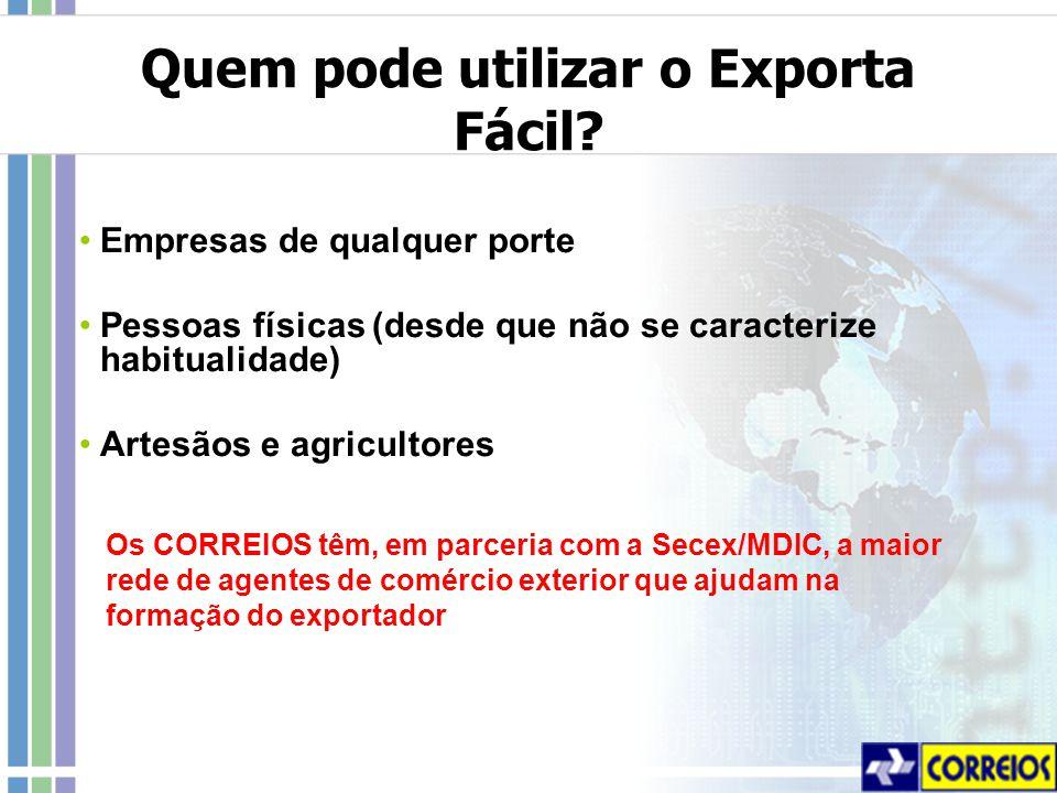 Quem pode utilizar o Exporta Fácil