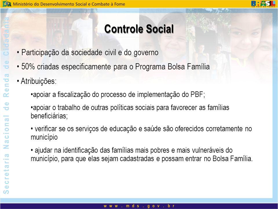 Controle Social Participação da sociedade civil e do governo