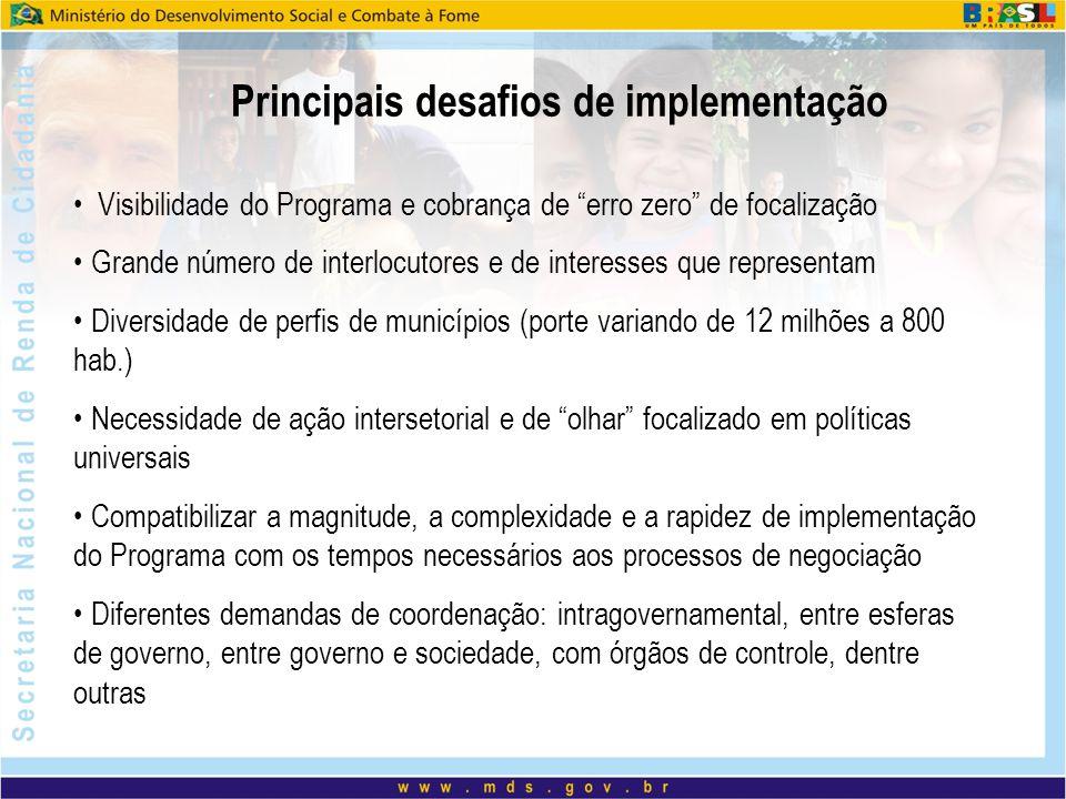 Principais desafios de implementação
