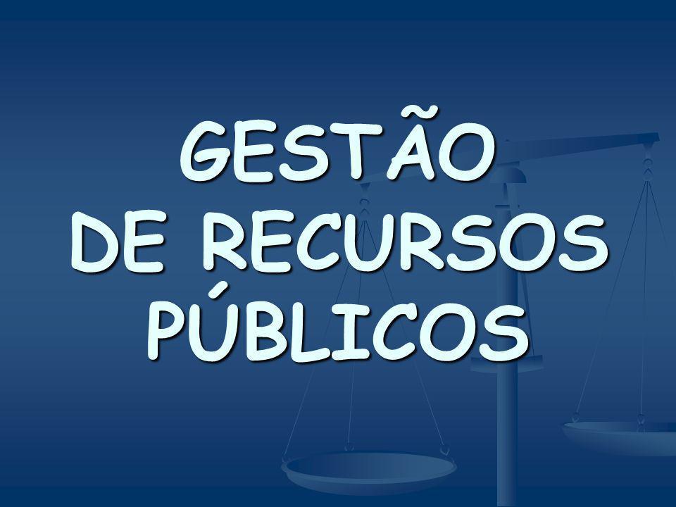GESTÃO DE RECURSOS PÚBLICOS
