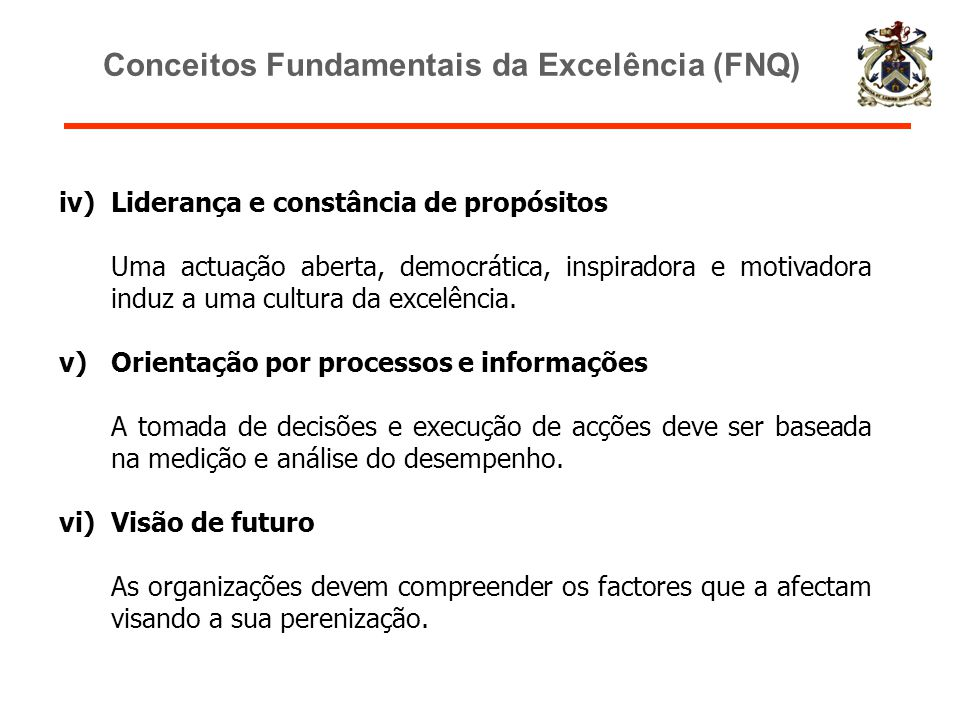 Conceitos Fundamentais da Excelência (FNQ)