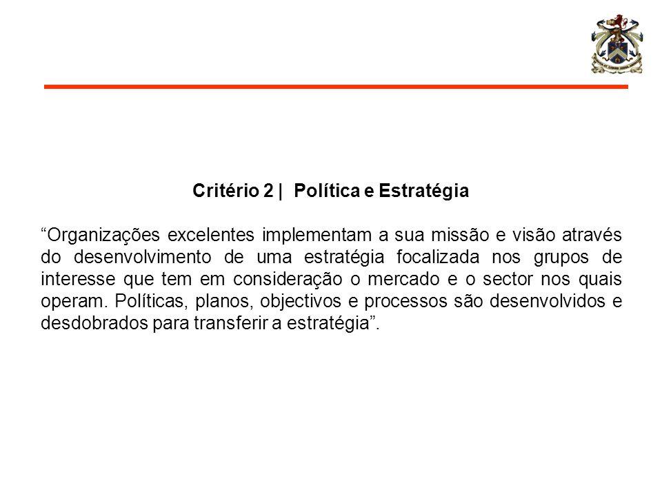 Critério 2 | Política e Estratégia
