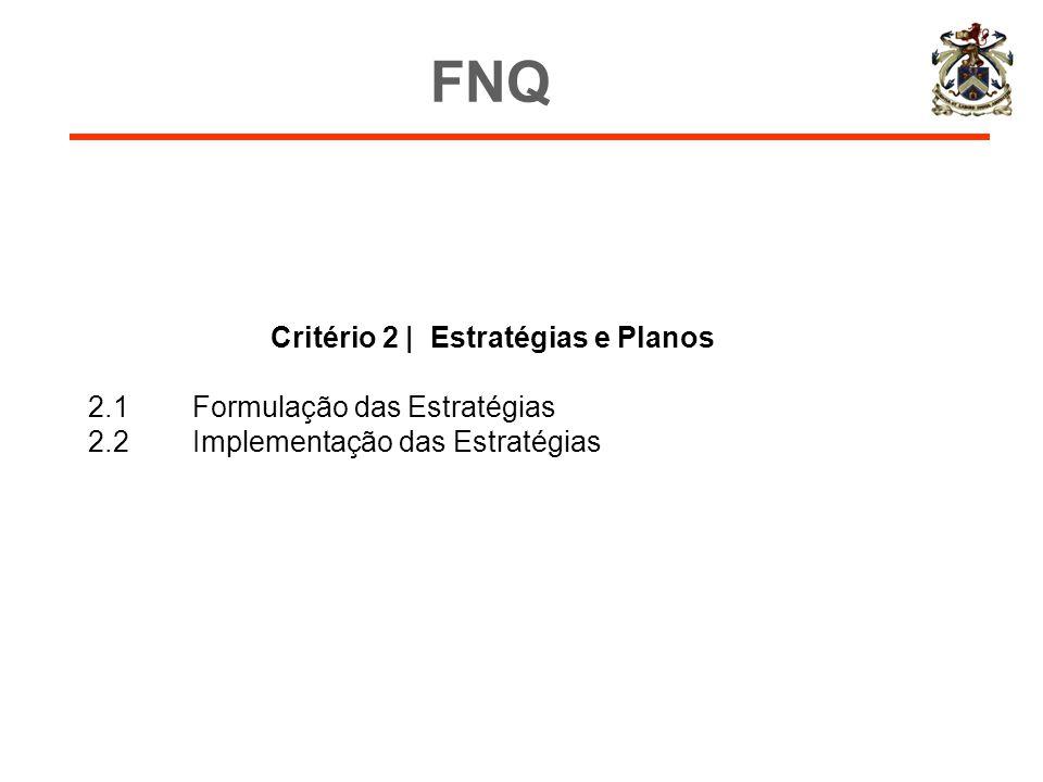 Critério 2 | Estratégias e Planos