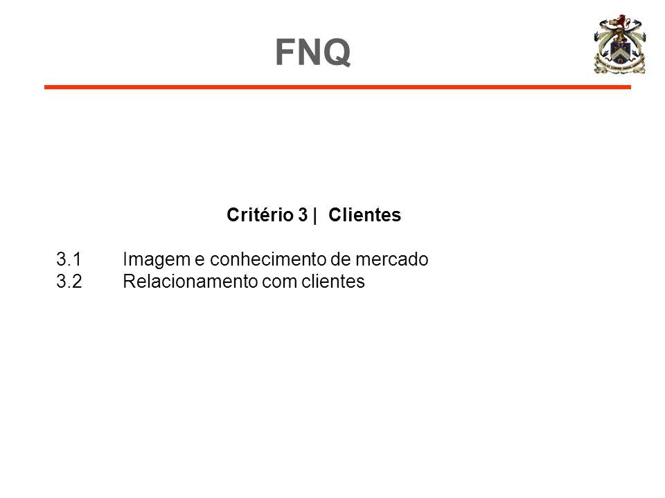 FNQ Critério 3 | Clientes 3.1 Imagem e conhecimento de mercado