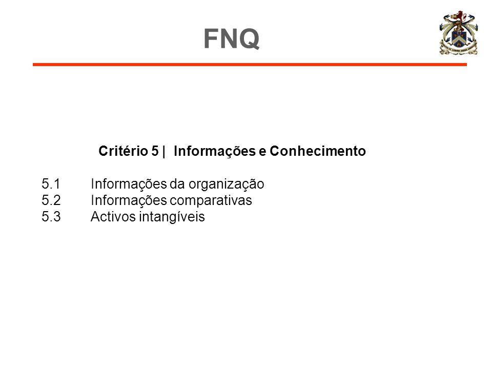 Critério 5 | Informações e Conhecimento